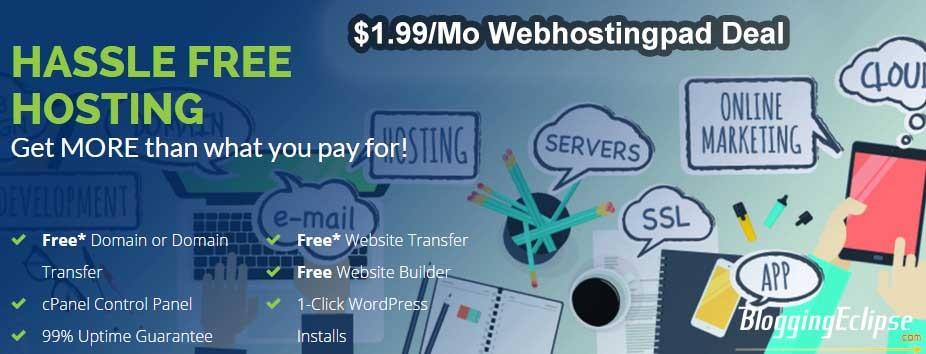 $1.99Mo WebHostingPad Coupon
