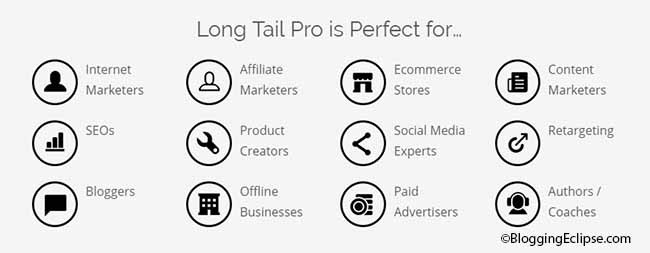 Long tail pro features