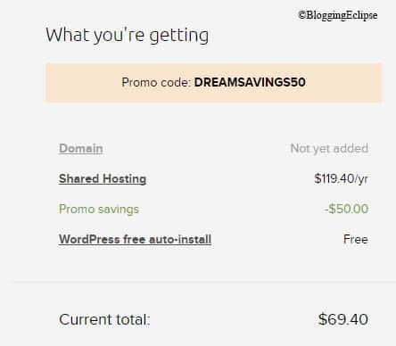 Dreamhost Shopping cart