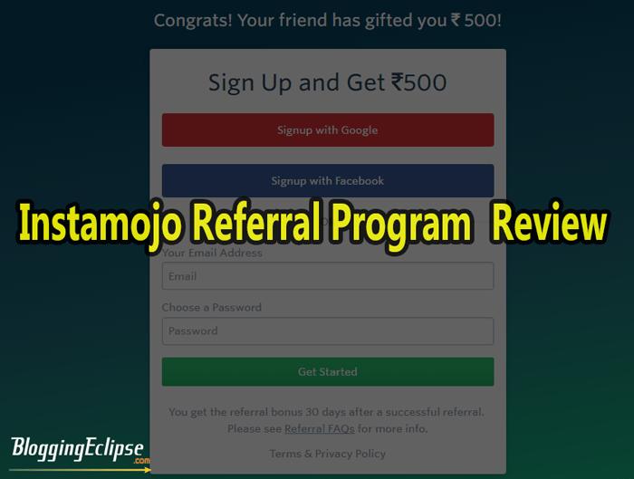 Instamojo referral program