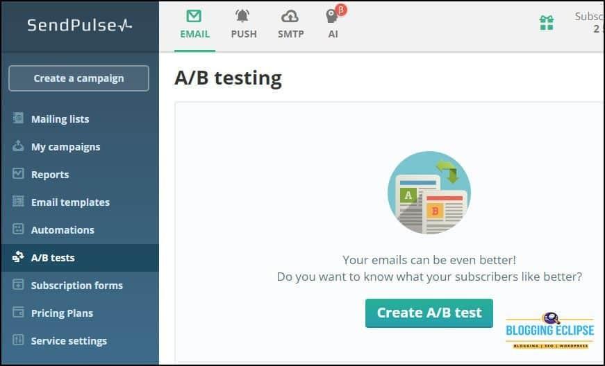 SendPluse-AB-testing