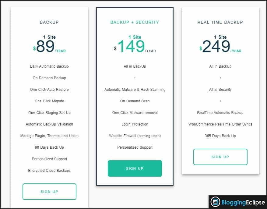 BlogVault-personal-Pricing