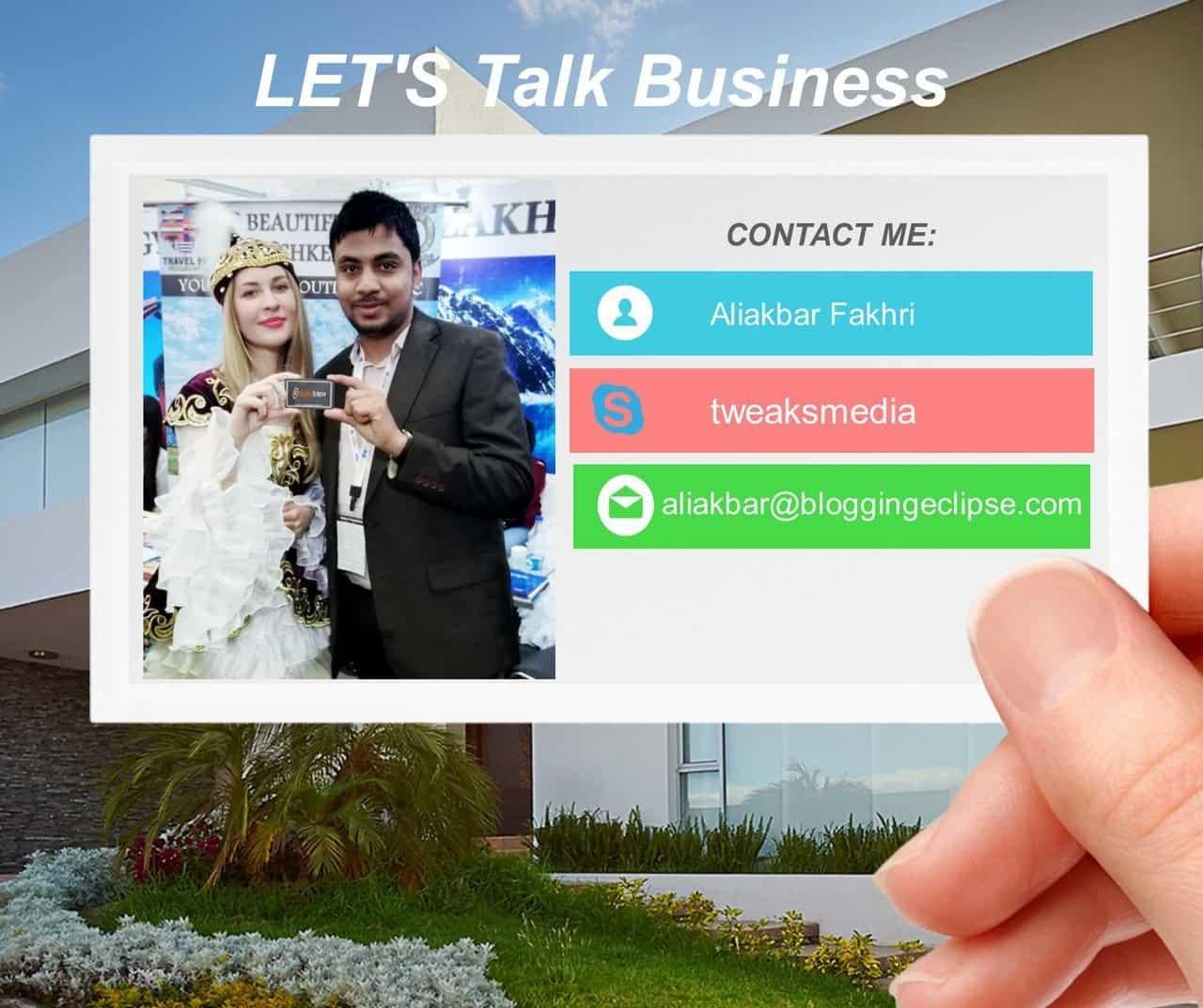 Contact Aliakbar Fakhri