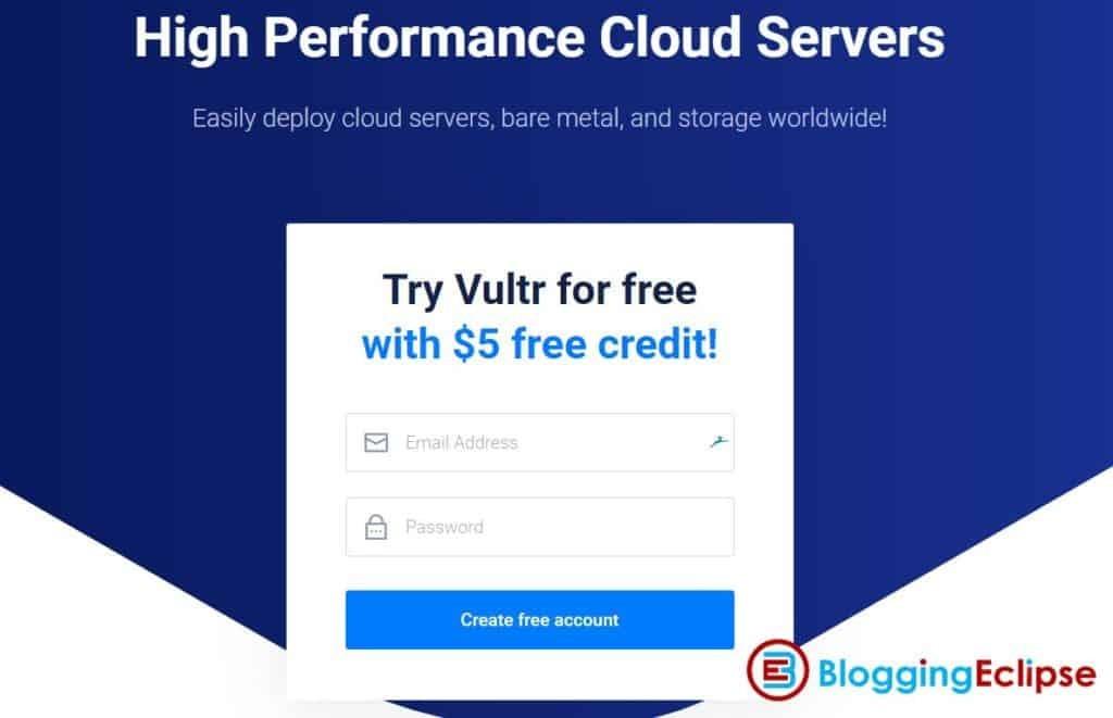 Vultr 5 Free credits