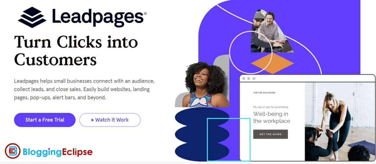 LeadPages landing page builders