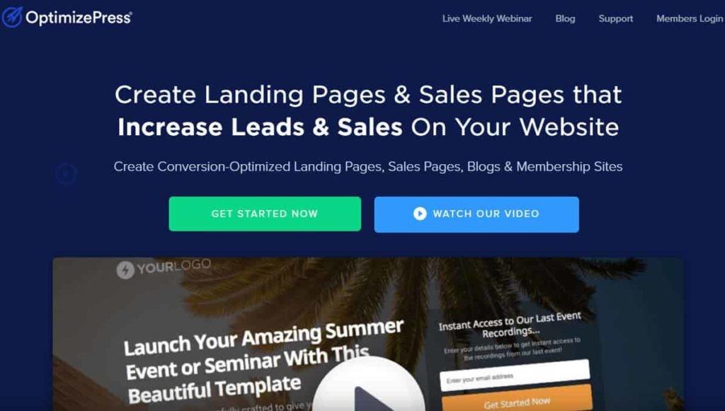 OptimizePress landing page builder
