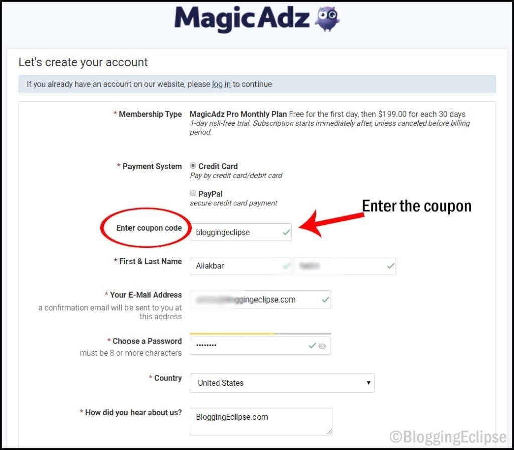 MagicAdz-signup-using-Coupon-1-2
