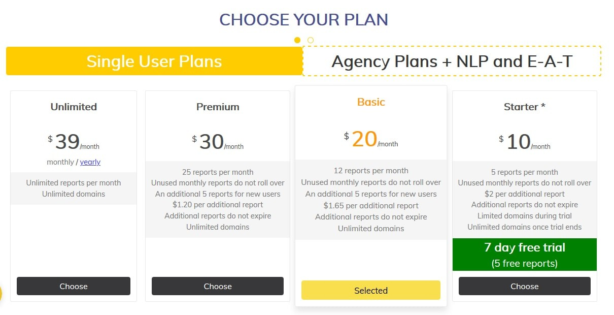 Page Optimizer Pro Pricing