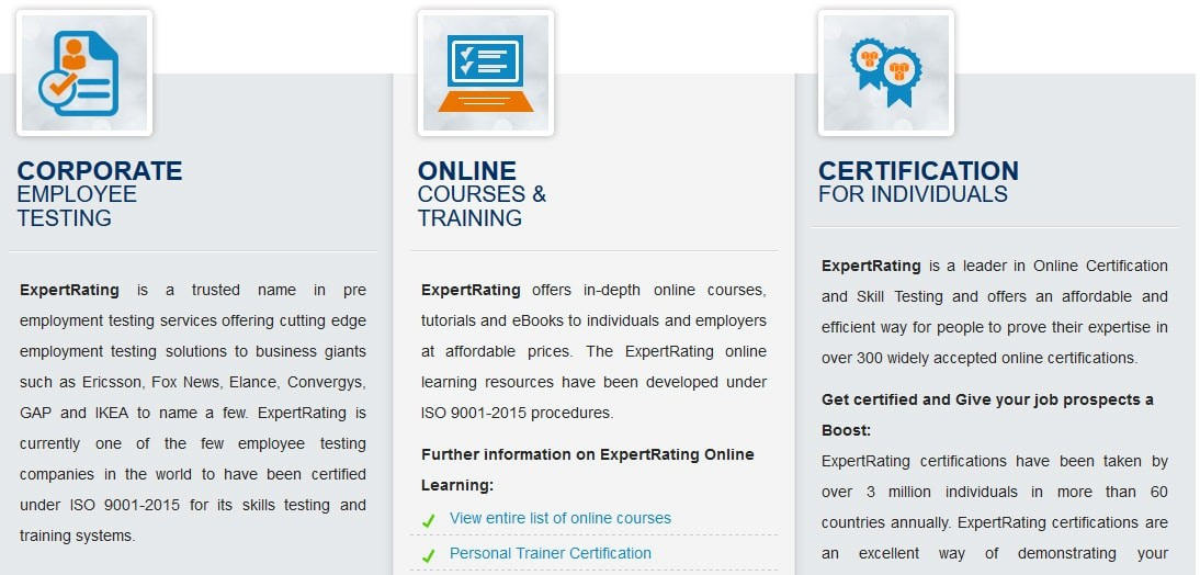 ExpertRating Courses