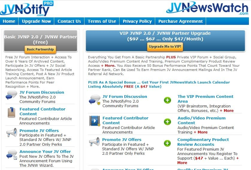 JV Notify Pro Pricing