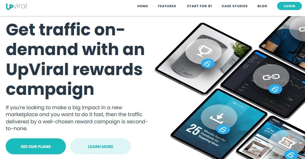Reward program at Upviral