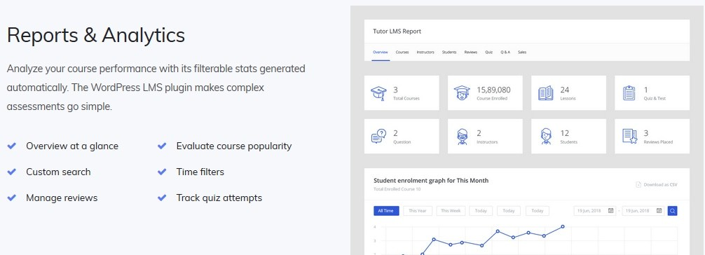 Tutor LMS Reports and Analytics