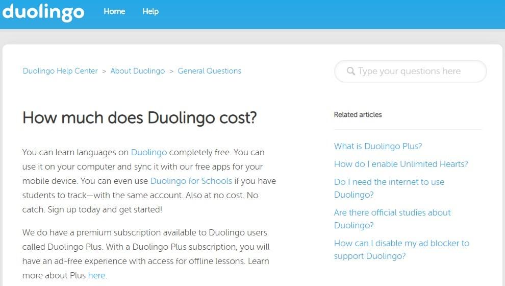 Duolingo Pricing Plans