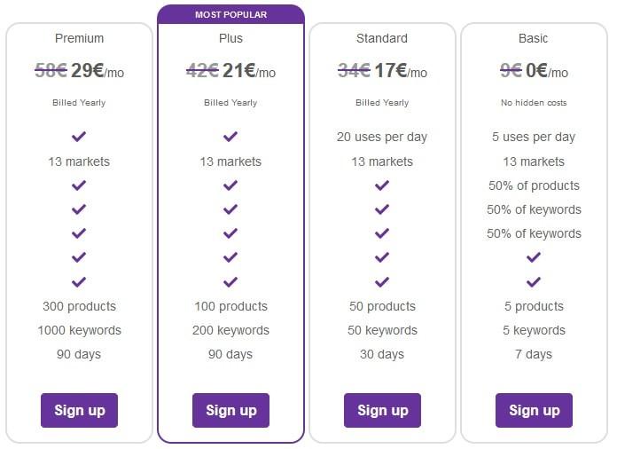 Egrow  Pricing Plans