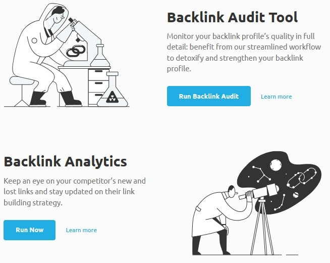 SEMrush Backlink Analyzer