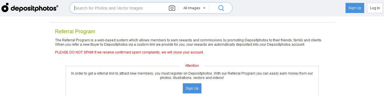 Depositphotos Affiliate Program