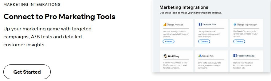 Marketing Integrations by Wix