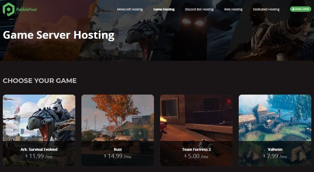 PebbleHost Gaming Hosting