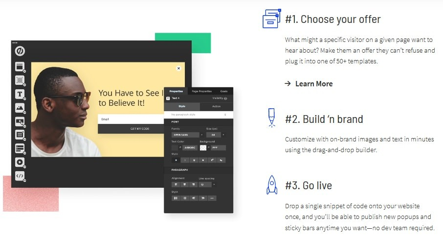 Unbounce popups & sticky bars