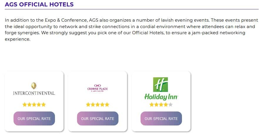 AGS Official Hotels