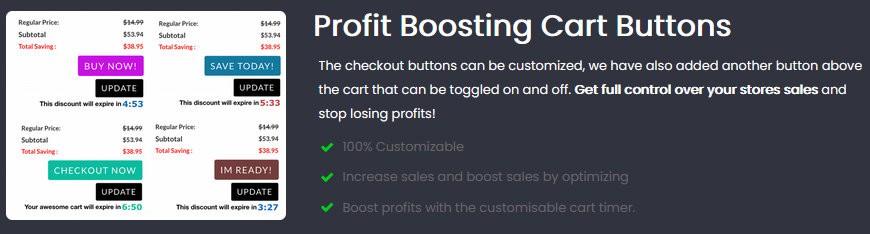 Profit Arising Cart Buttons