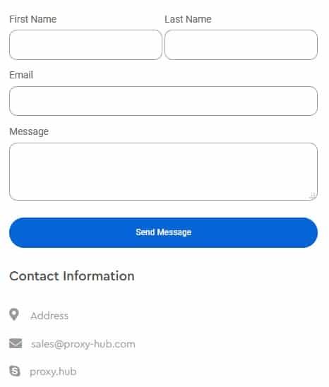 Proxy Hub Customer Support