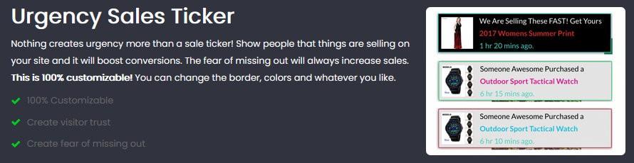 Sales Ticker