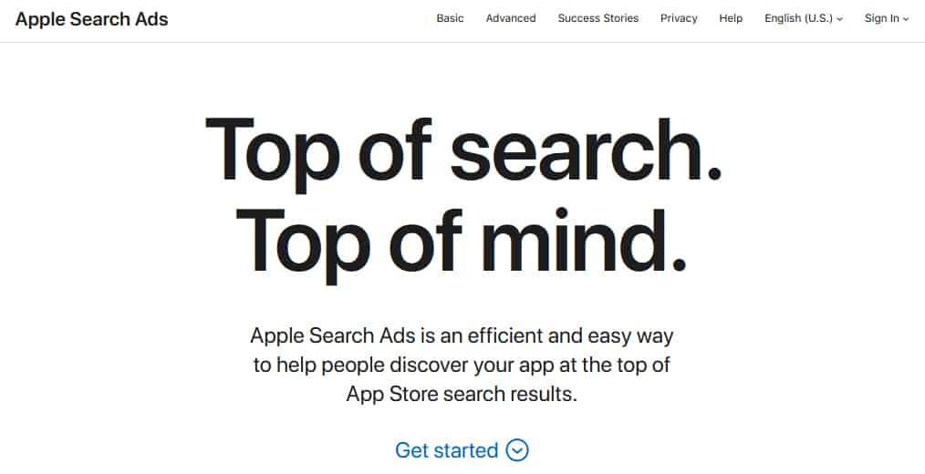 Search Ads (iAd)