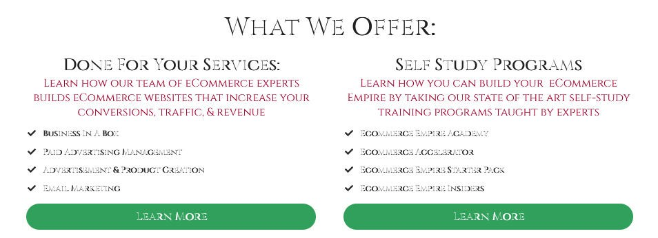 Ecommerce Empire Builders Coupon