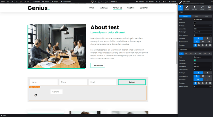 User-friendly drag-and-drop website builder