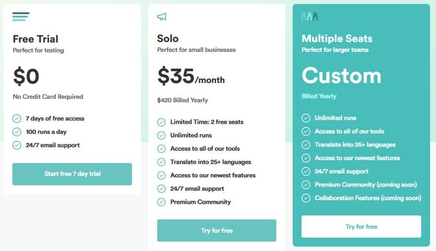 Copy.ai Pricing Plans