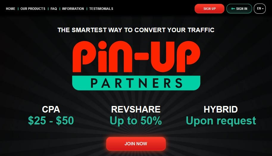 PinUp Affiliate Network